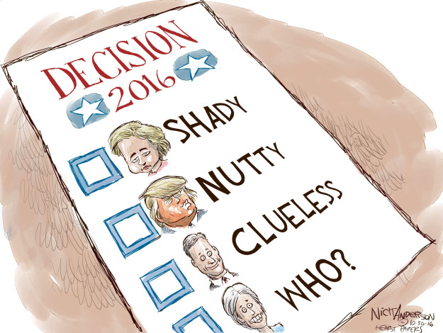 Nick Anderson  Nick Anderson's Editorial Cartoons 2016-10-30 democratic candidate