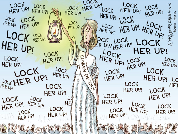 Nick Anderson  Nick Anderson's Editorial Cartoons 2016-11-04 democratic candidate