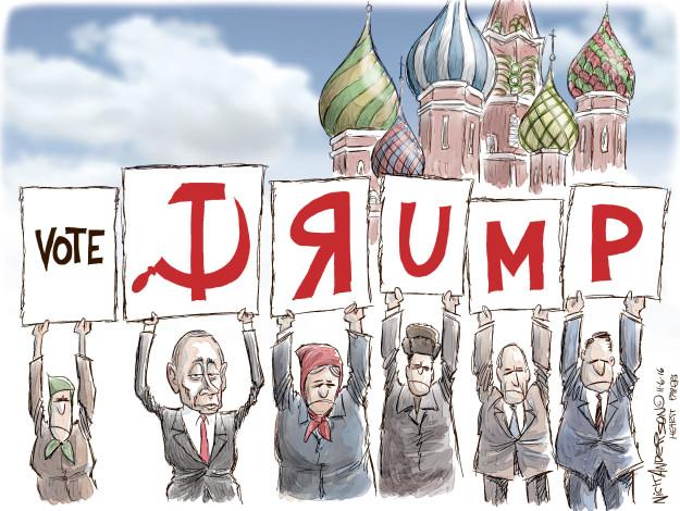 Cartoonist Nick Anderson  Nick Anderson's Editorial Cartoons 2016-11-06 Donald