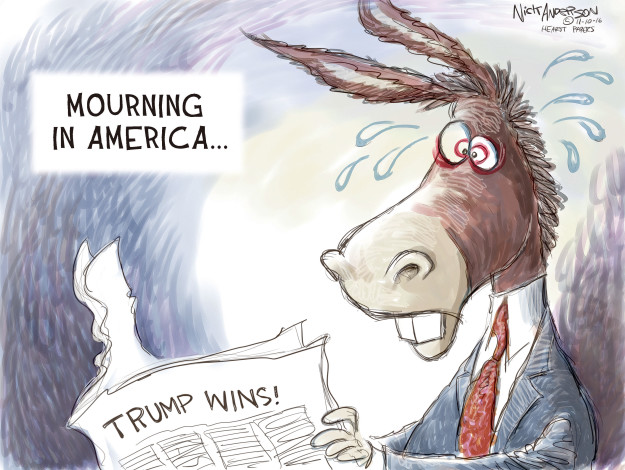 Cartoonist Nick Anderson  Nick Anderson's Editorial Cartoons 2016-11-09 Republican voter