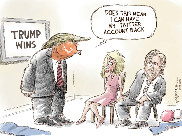 Cartoonist Nick Anderson  Nick Anderson's Editorial Cartoons 2016-11-10 Republican voter