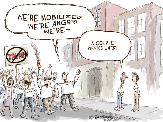 Cartoonist Nick Anderson  Nick Anderson's Editorial Cartoons 2016-11-15 candidacy