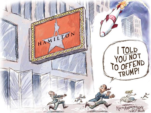 Cartoonist Nick Anderson  Nick Anderson's Editorial Cartoons 2016-11-22 Donald