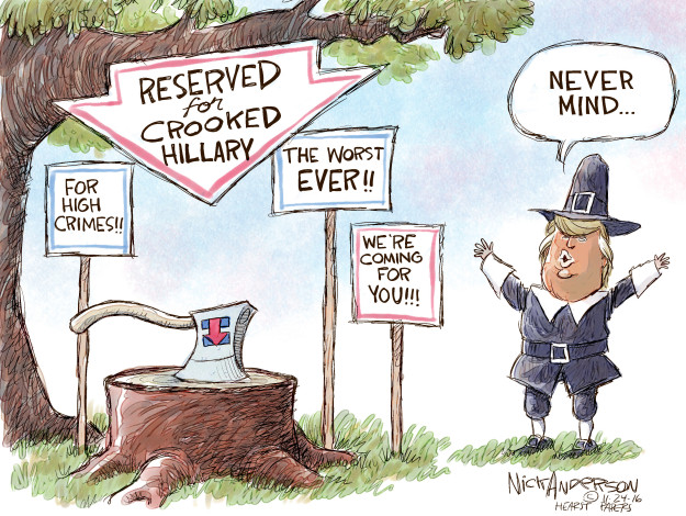Nick Anderson  Nick Anderson's Editorial Cartoons 2016-11-24 democratic candidate