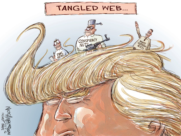 Cartoonist Nick Anderson  Nick Anderson's Editorial Cartoons 2016-12-06 white nationalism