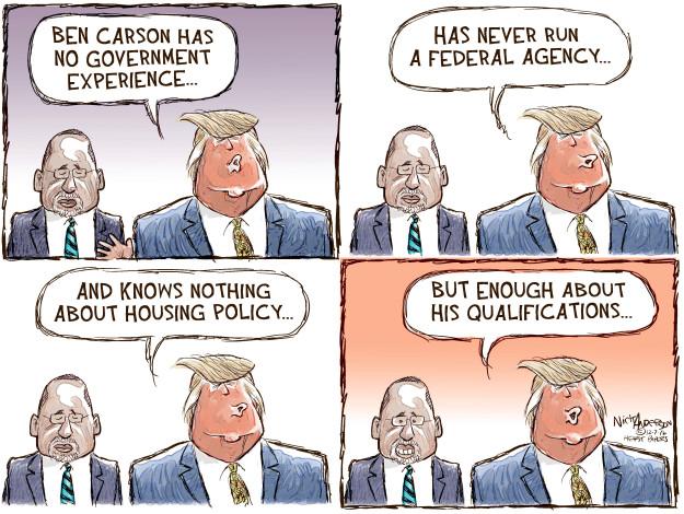 Cartoonist Nick Anderson  Nick Anderson's Editorial Cartoons 2016-12-07 presidential cabinet