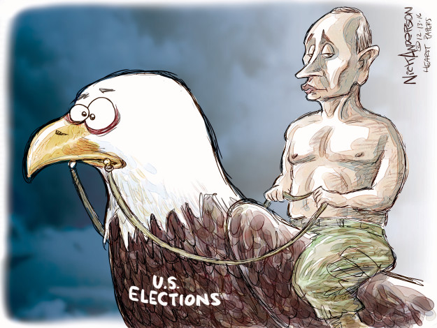Cartoonist Nick Anderson  Nick Anderson's Editorial Cartoons 2016-12-13 election interference