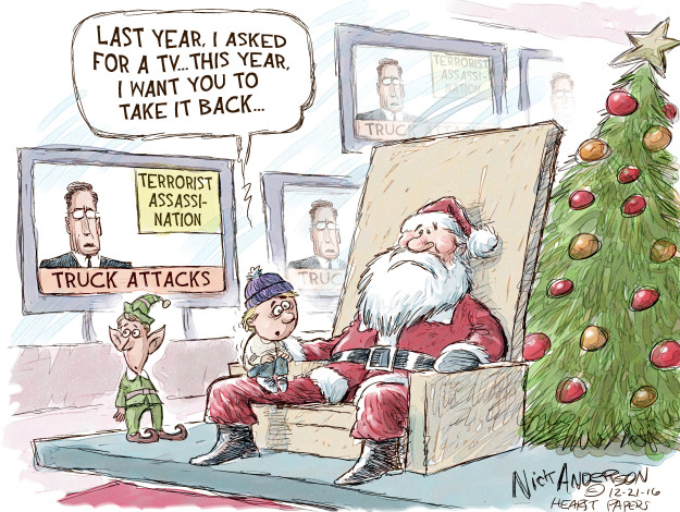 Cartoonist Nick Anderson  Nick Anderson's Editorial Cartoons 2016-12-21 Christmas