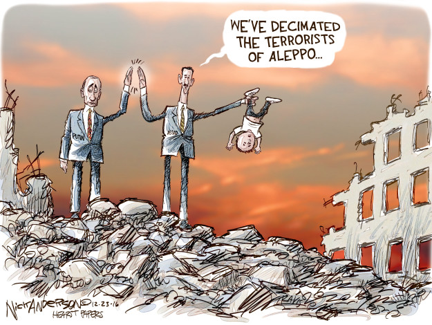 Cartoonist Nick Anderson  Nick Anderson's Editorial Cartoons 2016-12-23 bombing