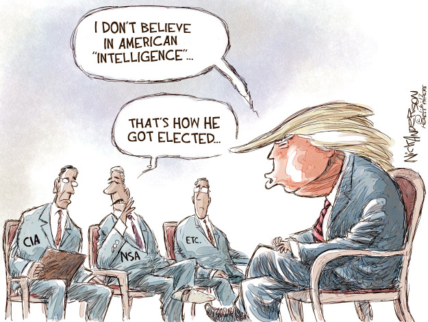 Cartoonist Nick Anderson  Nick Anderson's Editorial Cartoons 2017-01-06 election interference