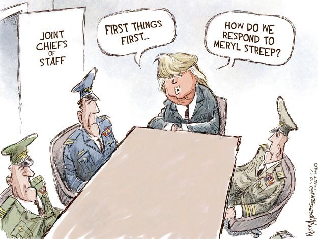 Cartoonist Nick Anderson  Nick Anderson's Editorial Cartoons 2017-01-10 Donald