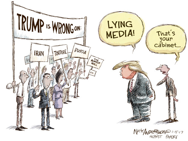 Cartoonist Nick Anderson  Nick Anderson's Editorial Cartoons 2017-01-15 human rights