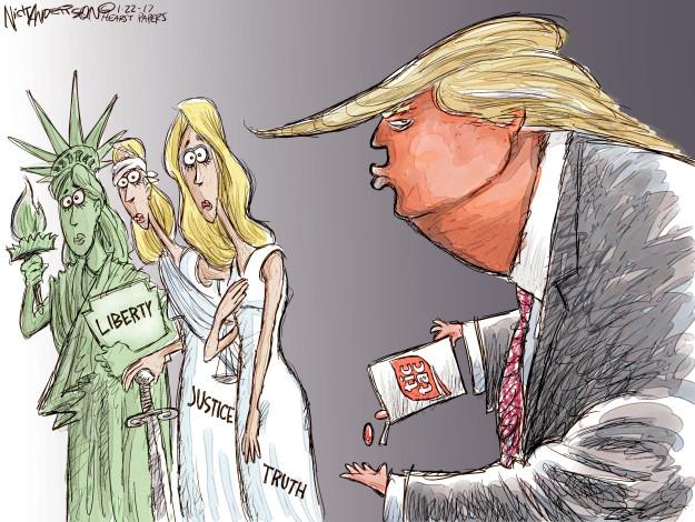 Cartoonist Nick Anderson  Nick Anderson's Editorial Cartoons 2017-01-22 truth