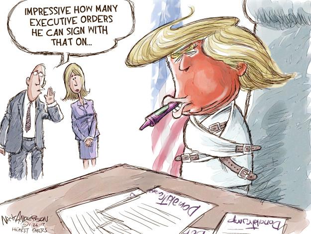 Cartoonist Nick Anderson  Nick Anderson's Editorial Cartoons 2017-01-26 executive branch