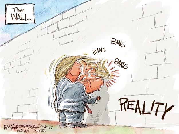 Nick Anderson  Nick Anderson's Editorial Cartoons 2017-01-29 border security