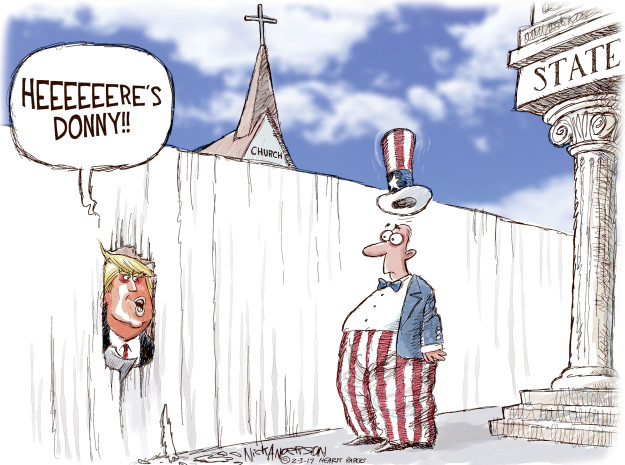 Nick Anderson  Nick Anderson's Editorial Cartoons 2017-02-03 religion