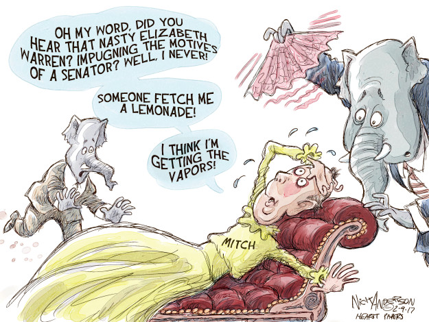 Cartoonist Nick Anderson  Nick Anderson's Editorial Cartoons 2017-02-09 legislative branch