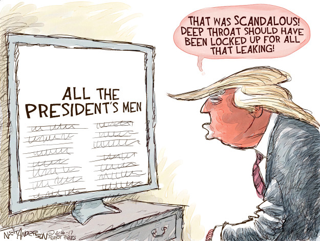 Cartoonist Nick Anderson  Nick Anderson's Editorial Cartoons 2017-02-16 Richard