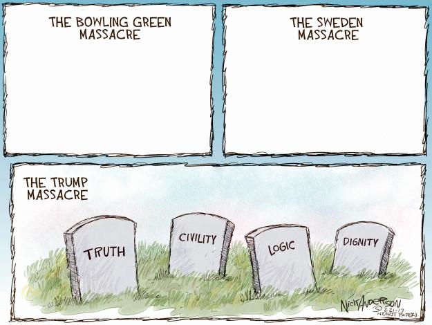Cartoonist Nick Anderson  Nick Anderson's Editorial Cartoons 2017-02-21 truth