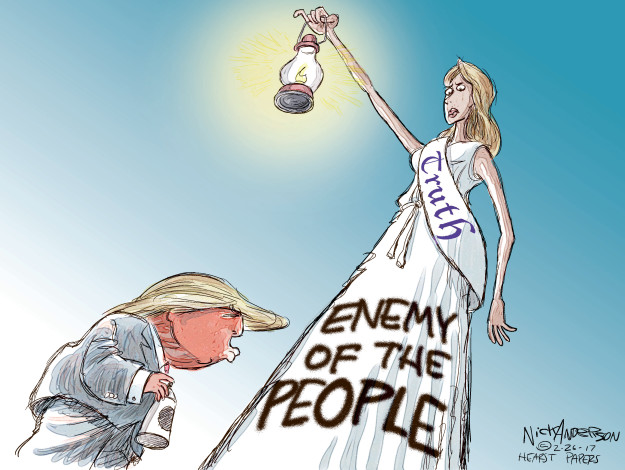 Cartoonist Nick Anderson  Nick Anderson's Editorial Cartoons 2017-02-26 truth