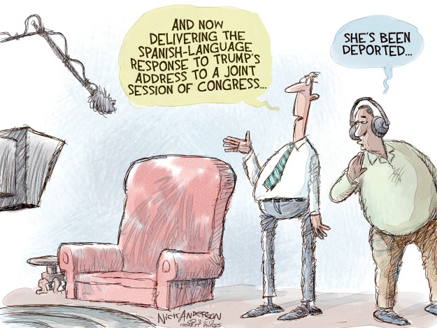 Nick Anderson  Nick Anderson's Editorial Cartoons 2017-03-01 immigration