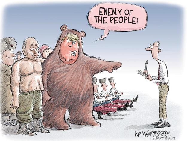 Cartoonist Nick Anderson  Nick Anderson's Editorial Cartoons 2017-03-05 Vladimir Putin