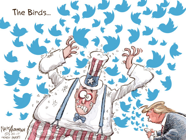 Cartoonist Nick Anderson  Nick Anderson's Editorial Cartoons 2017-03-22 Donald