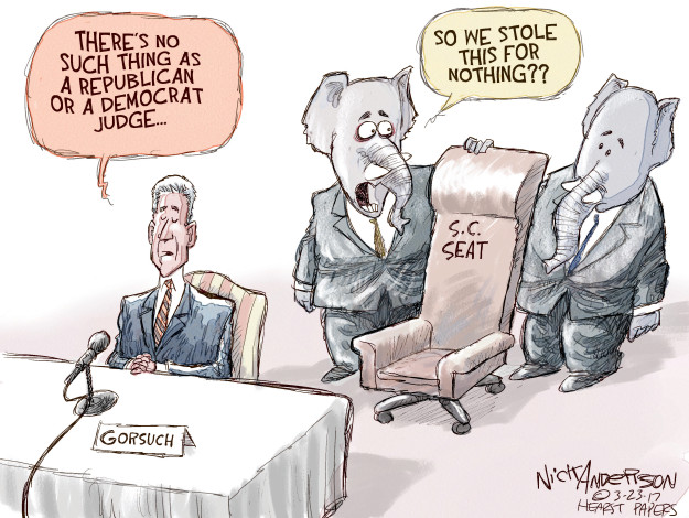 Theres no such thing as a Republican or a Democrat judge … So we stole this for nothing?? S.C. seat. Gorsuch.
