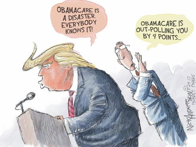 Cartoonist Nick Anderson  Nick Anderson's Editorial Cartoons 2017-03-24 Donald