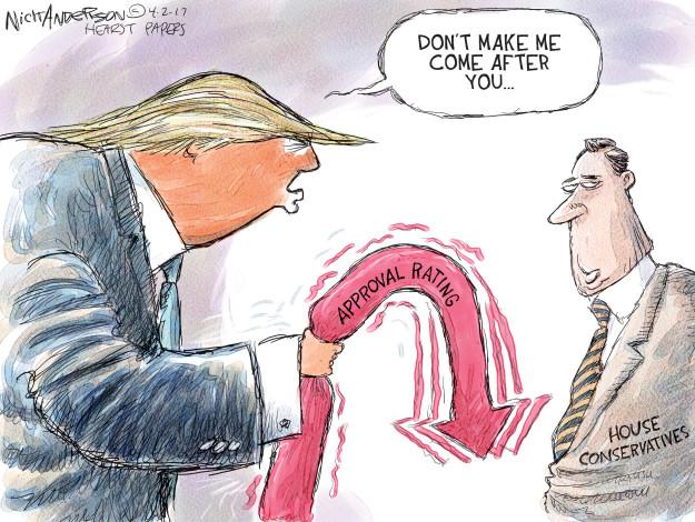 Cartoonist Nick Anderson  Nick Anderson's Editorial Cartoons 2017-04-02 executive branch