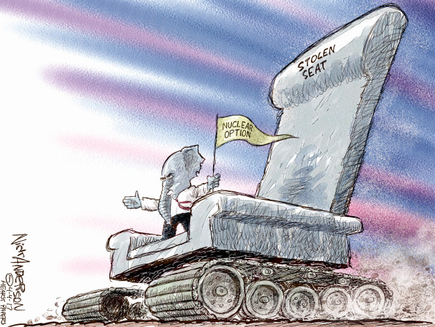 Cartoonist Nick Anderson  Nick Anderson's Editorial Cartoons 2017-04-04 nuclear