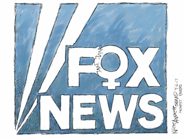 Cartoonist Nick Anderson  Nick Anderson's Editorial Cartoons 2017-04-06 cable news
