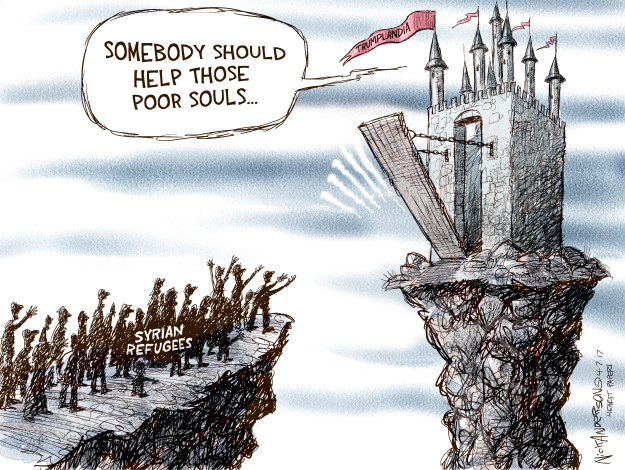 Cartoonist Nick Anderson  Nick Anderson's Editorial Cartoons 2017-04-07 chemical weapon