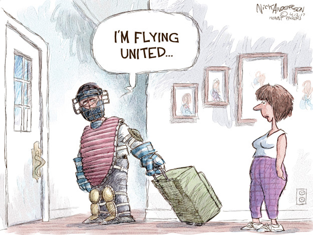 Nick Anderson  Nick Anderson's Editorial Cartoons 2017-04-12 United Airlines