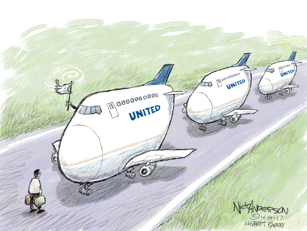 Nick Anderson  Nick Anderson's Editorial Cartoons 2017-04-14 United Airlines