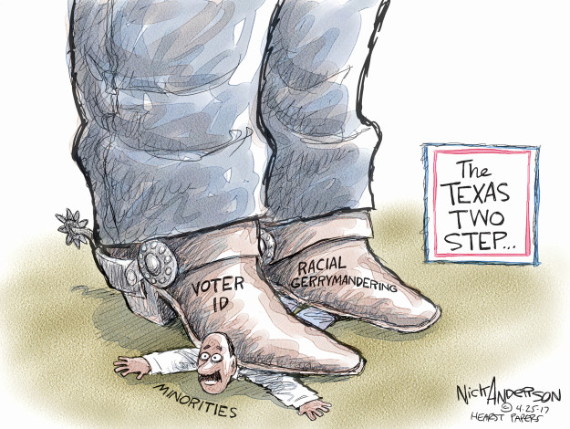 Nick Anderson  Nick Anderson's Editorial Cartoons 2017-04-25 voting rights