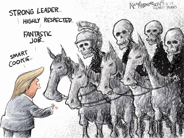 Cartoonist Nick Anderson  Nick Anderson's Editorial Cartoons 2017-05-03 Donald