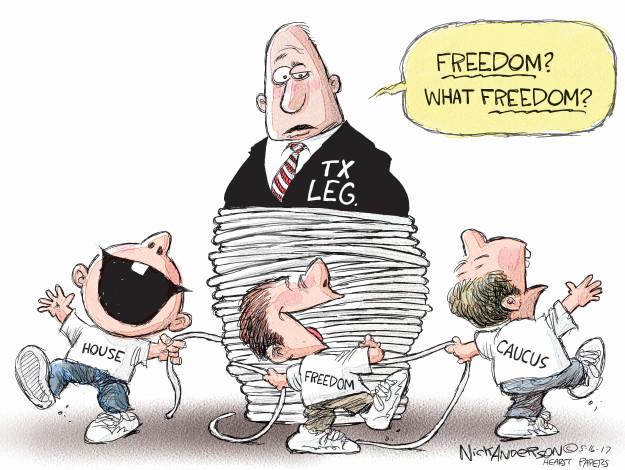 Freedom? What freedom? House. Tx leg. Freedom. Caucus.