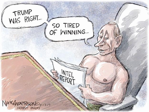 Cartoonist Nick Anderson  Nick Anderson's Editorial Cartoons 2017-05-17 Vladimir Putin