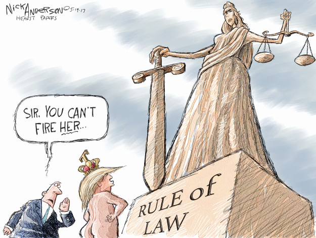 Cartoonist Nick Anderson  Nick Anderson's Editorial Cartoons 2017-05-19 rule of law