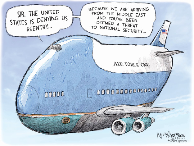 Nick Anderson  Nick Anderson's Editorial Cartoons 2017-05-21 travel