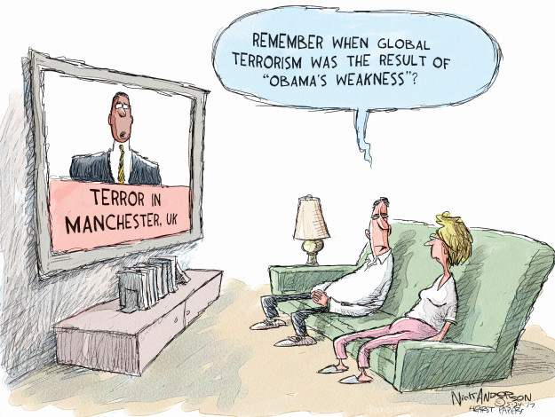 Cartoonist Nick Anderson  Nick Anderson's Editorial Cartoons 2017-05-24 Donald