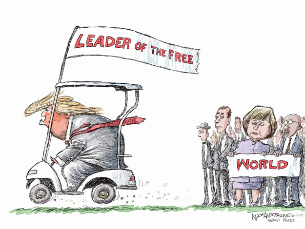 Cartoonist Nick Anderson  Nick Anderson's Editorial Cartoons 2017-06-04 Donald