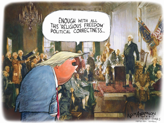 Cartoonist Nick Anderson  Nick Anderson's Editorial Cartoons 2017-06-06 Donald