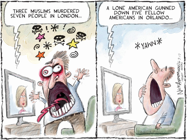 Cartoonist Nick Anderson  Nick Anderson's Editorial Cartoons 2017-06-07 terrorism