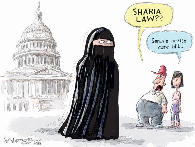 Cartoonist Nick Anderson  Nick Anderson's Editorial Cartoons 2017-06-20 health care policy