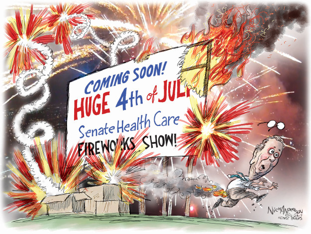 Cartoonist Nick Anderson  Nick Anderson's Editorial Cartoons 2017-06-28 affordable care act