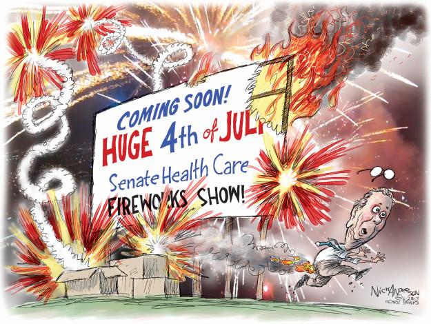 Cartoonist Nick Anderson  Nick Anderson's Editorial Cartoons 2017-06-28 health care policy