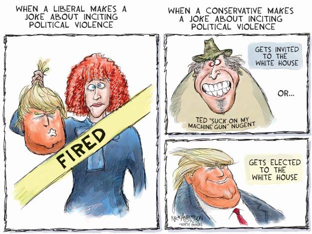 Cartoonist Nick Anderson  Nick Anderson's Editorial Cartoons 2017-07-06 gun violence