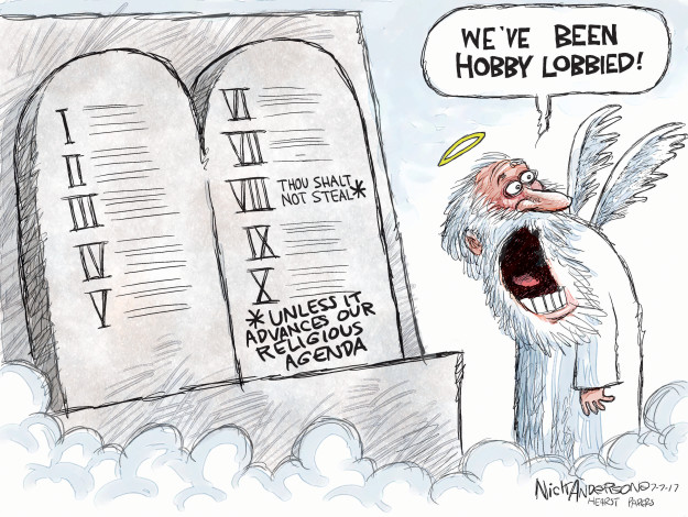 Cartoonist Nick Anderson  Nick Anderson's Editorial Cartoons 2017-07-07 political lobby